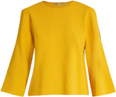 Stella McCartney Round-neck cut-out sleeve sweater