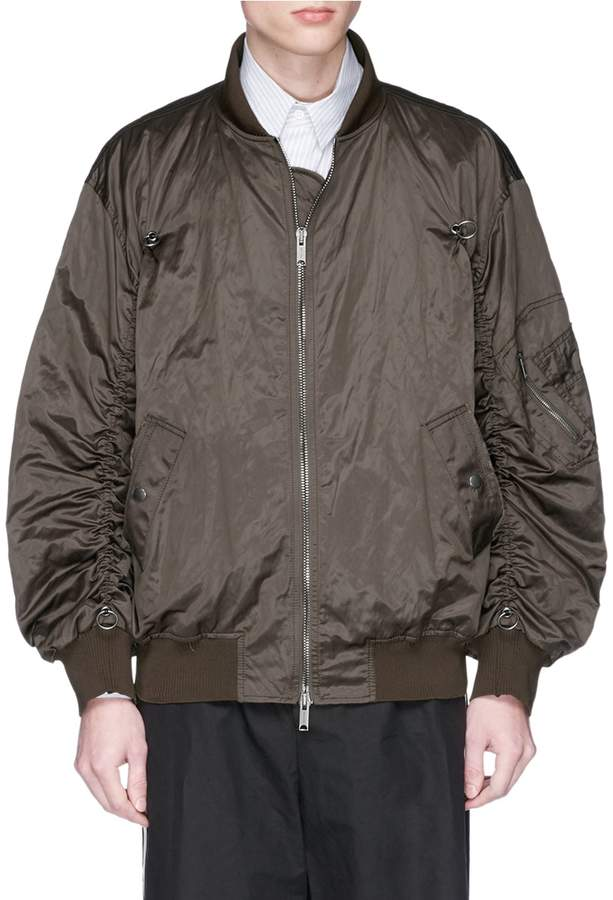 Damir Doma 'Jerrit' ruched sleeve bomber jacket