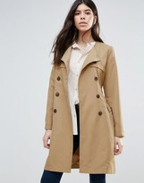 Brave Soul Belted Trench Coat