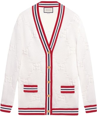 Gucci GG knit elongated cardigan