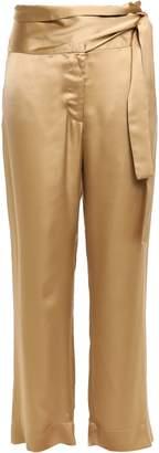 Forte Forte Forte_forte Belted Satin Wide-leg Pants