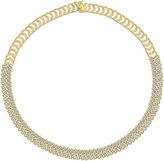 FINE JEWELRY Diamond-Accent 18K Gold Over Brass Chevron Necklace