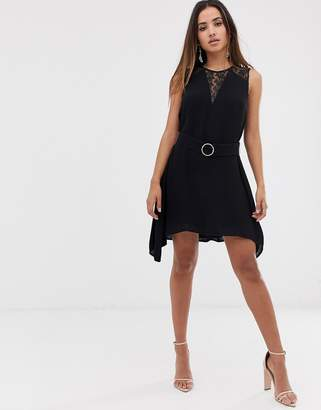 French Connection Hennessy Lace Trim Dress