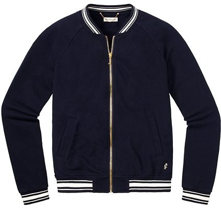 Juicy Couture Racer Ribbed Bomber Jacket