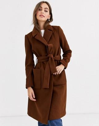 Pimkie tie waist coat in brown