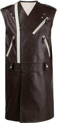 Raf Simons Sleeveless Long Jacket