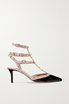 Valentino Garavani The Rockstud 65 Patent-leather Pumps