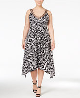 INC International Concepts Plus Size Handkerchief-Hem Dress, Only at Macy's