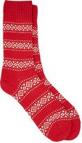 Barneys New York Men's Fair Isle Mid-Calf Socks