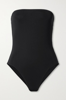 Anemos Net Sustain The Ritts Strapless Swimsuit - Black