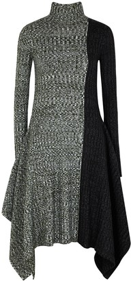 J.W.Anderson Panelled merino wool midi dress