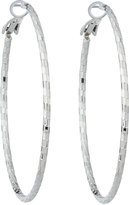 Lydell NYC Textured Hoop Earrings, Silver