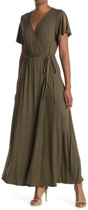 WEST KEI Knit Wrap Maxi Dress
