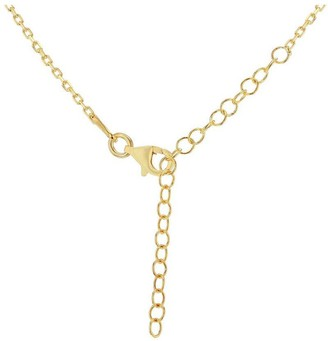 The Love Silver Collection Gold Plated Sterling Silver Padlock Adjustable Pendant Necklace