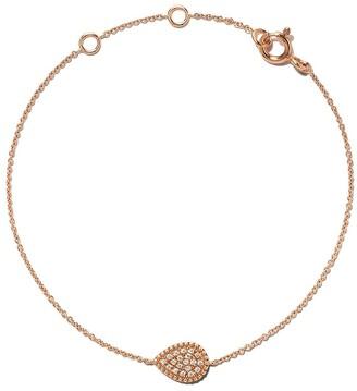 As 29 18kt rose gold Mye pear beading pave diamond bracelet