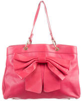 RED Valentino Bow-Embellished Leather Tote