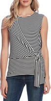 Vince Camuto Vibration Stripe Tie Front Sleeveless Top