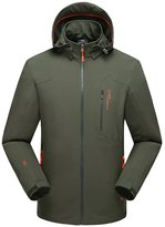 Magcomsen Sportswear Men's Windproof Jacket Hooded Softshell Hiking Climbing Coat