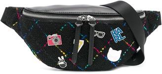 Karl Lagerfeld Paris K Studio badge-applique belt bag