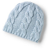 Classic Women's Chunky Cable Beanie-Oxford Blue Fairisle