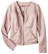 Xhilaration Junior's Faux Leather Jacket -Mauve