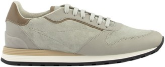 Brunello Cucinelli Sneakers Washed Suede And Semi-polished Calfskin Runners
