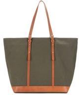 Vanessa Bruno Cabas Medium Leather-trimmed Canvas Shopper