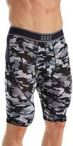 Saxx Men's Kinetic Long Leg No Fly Boxer Brief Underwear Shutter Camo L