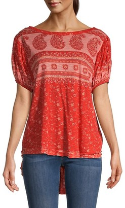 Free People Paisley Floral Top