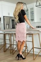 Ampersand Avenue Ultimate Floral Skirt - Mauve
