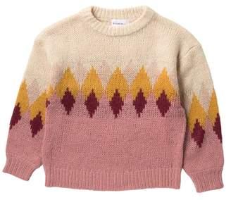 Elodie K Long Sleeve Argyle Sweater (Big Girls)
