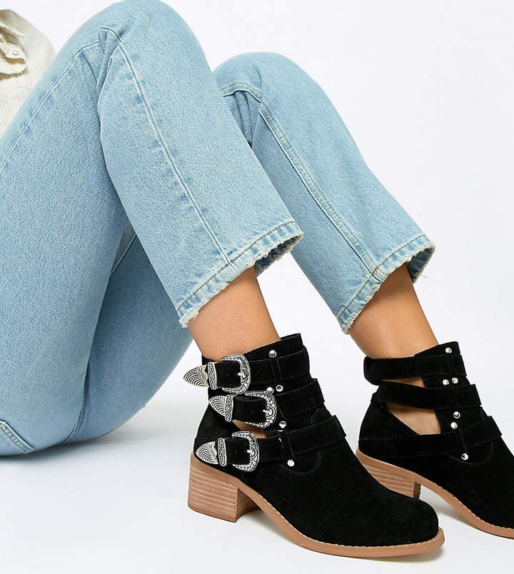 5b7c8a9ce6b6 Asos Leather Boots For Women - ShopStyle Canada
