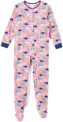 Rene Rofe Girl Girls' Footies CONVERCHAR - Pink Dinosaurs Footie Pajama - Toddler