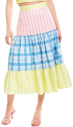 Rococo Sand Camellia Midi Skirt