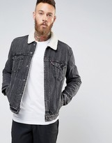 Levis Type 3 Sherpa Trucker Jacket Brusted