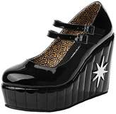 T.U.K. Women's Mary Jane Starburst Wedge Pump