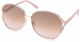Southpole Women's 1027SP Large Round Metal Sunglasses with Enamel Twist Frame Design and 100% UV Protection 60 mm