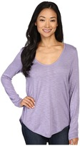 Lilla P Pima Modal Slub Long Sleeve V-Neck Women's Clothing