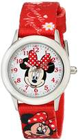 Disney Kids' W001917 Minnie Mouse Analog Display Analog Quartz Watch