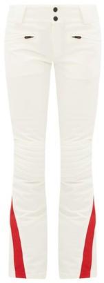 Perfect Moment Chevron-panel Flared Ski Trousers - Womens - White