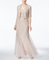 Alex Evenings Petite Lace A-Line Gown And Jacket