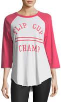 Junk Food Clothing Flip Cup Champ Raglan Tee