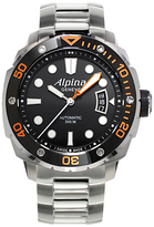 Alpina Al-525lbo4v26b Extreme Diver 300 Bracelet Strap Watch, Silver/black