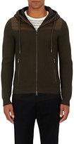 Moncler Men's Wool Zip-Front Hoodie