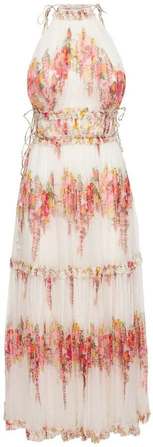 Thumbnail for your product : Zimmermann Mae Printed Silk Chiffon Midi Dress