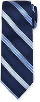 Neiman Marcus Boxed Striped Silk Tie, Blue