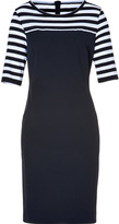 Piazza Sempione Cotton Dress with Stripes in Navy
