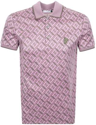 Versace Patterned Polo T Shirt Pink