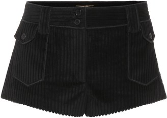Saint Laurent Ribbed cotton shorts