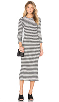 Monrow Stripe Sweater Dress in White. - size XS (also in )